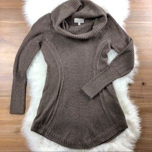 Anthro Angel Of The North | Cowl Knit Oat Sweater